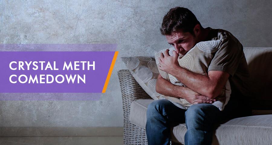 Guy experiencing Meth Comedown