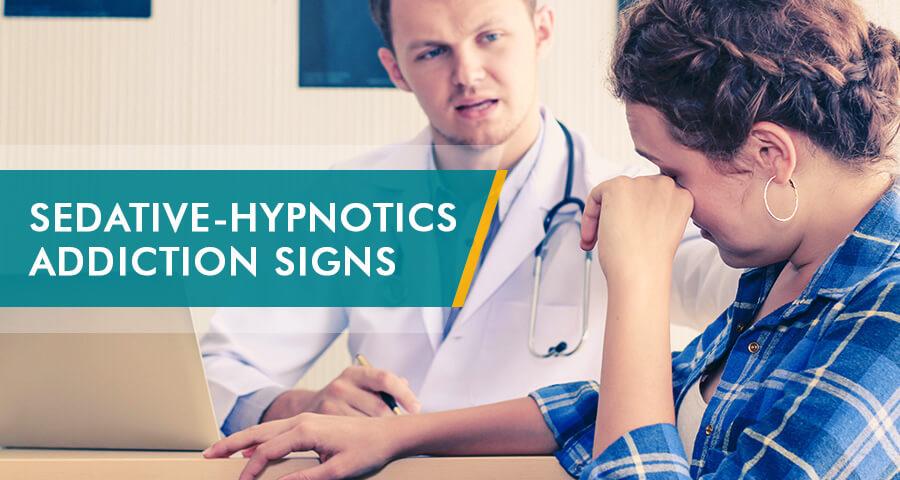 woman describes Sedative-Hypnotics Addiction Signs