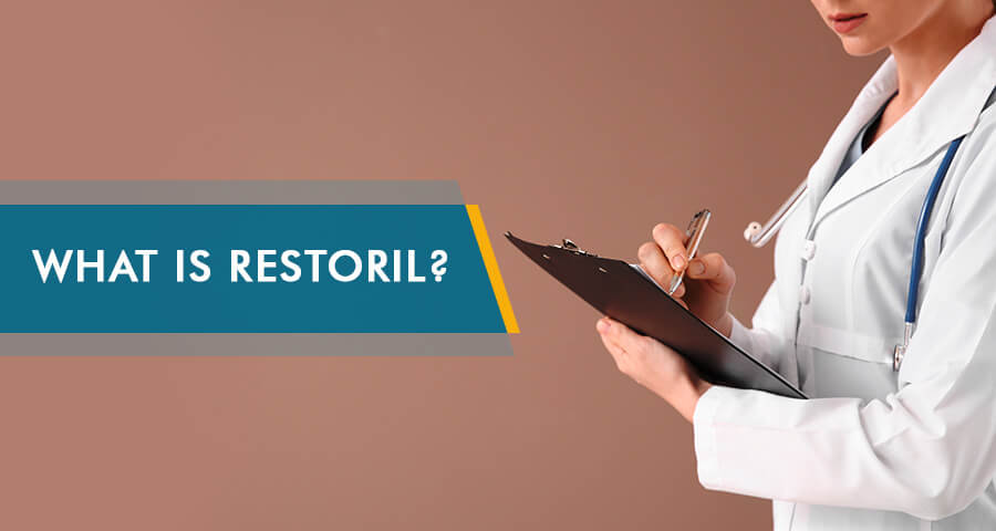 doctor is writing notes about restoril abuse