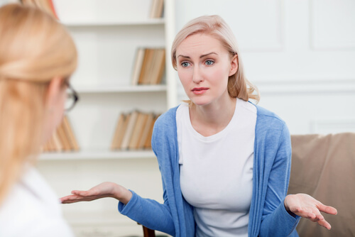 woman asking for advice