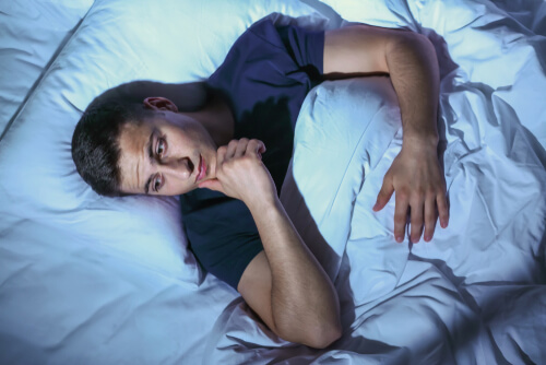 young man with insomnia