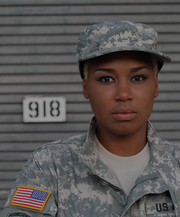 african american female in US military uniform