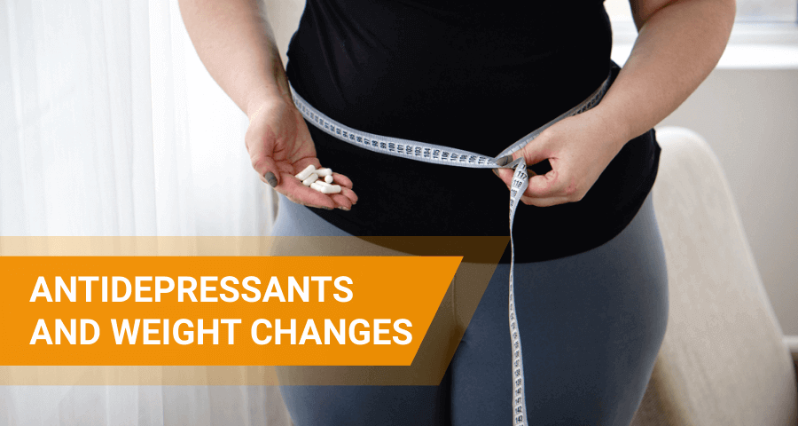 weight loss and gain after taking antidepressants