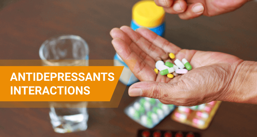 how antidepressants interact with other drugs and foods