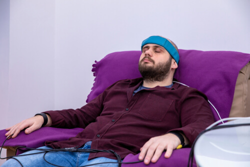 Patient during Biofeedback Theraphy