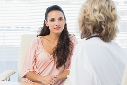 Female patient listening to EMDR therapist