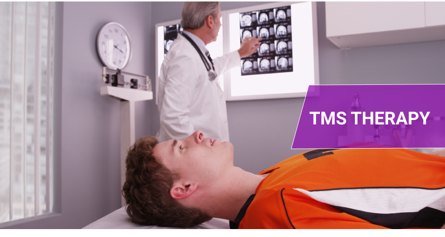 Patient during TMS Therapy session