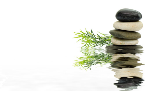 zen stones as holistic concept