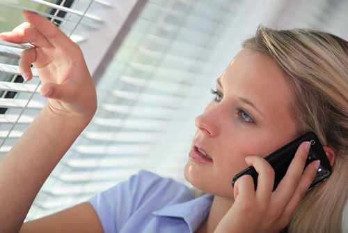woman receiving a consultation on the phone