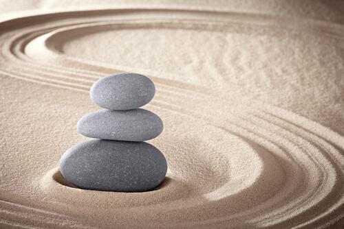 zen garden stones