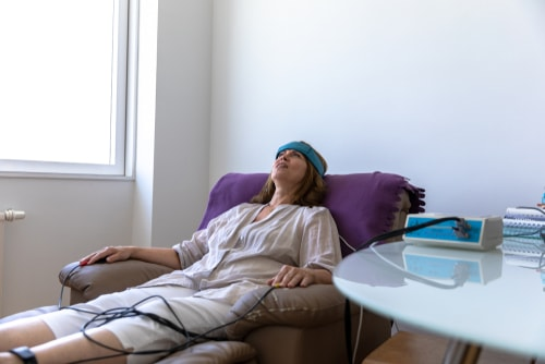 Biofeedback Patient on therapy