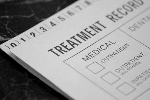 Medical Treatment Record at rehab facility