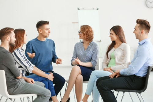 Meeting Of AA Support Group