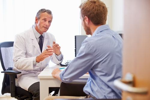 Patient Having Consultation With Addiction Counselor