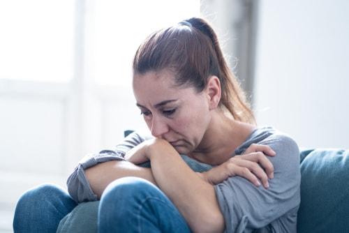 woman feeling deressed