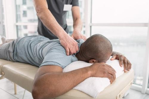 man having a professional massage