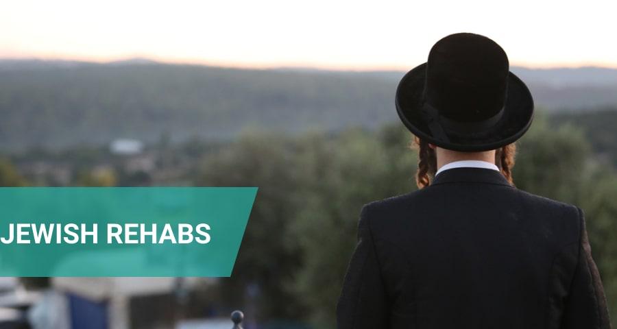 Jewish man meditates in Rehab