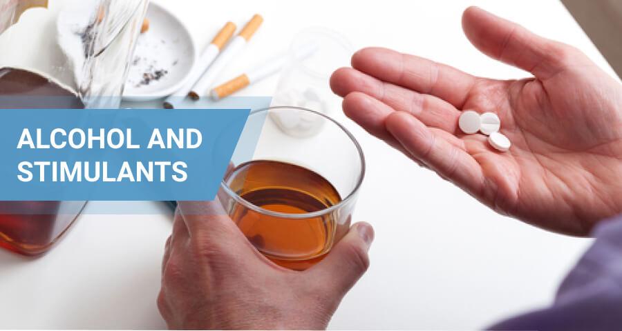 alcohol and stimulant drugs