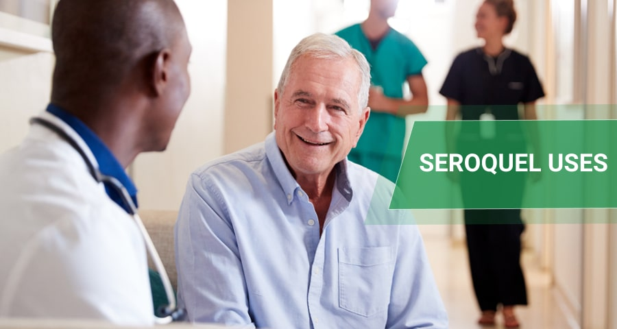 Doctor Welcoming Male Patient to use Seroquel.