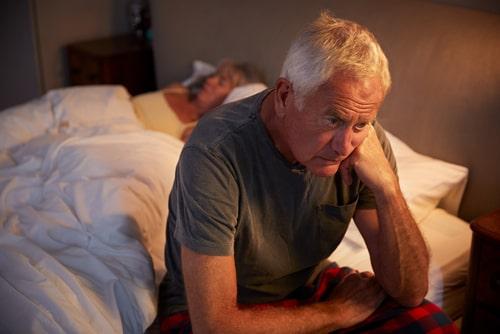Senior patient Suffering With Insomnia.