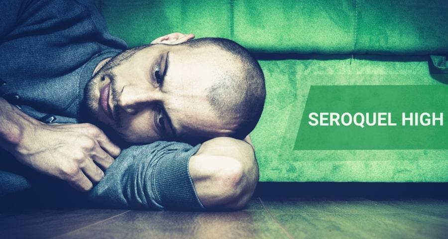 anxious man high on seroquel