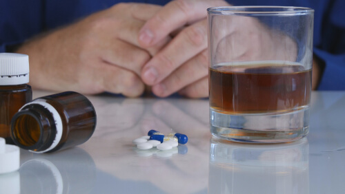 Drugs And Alcohol On The Table