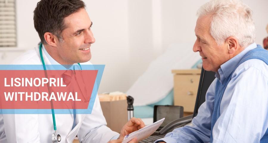 American doctor talking to senior man.