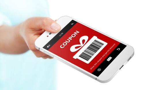 Digital Discount Voucher On Mobile Phone