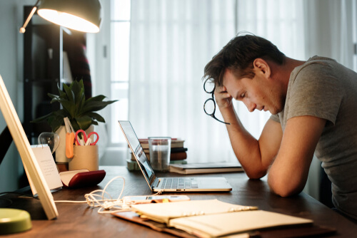 Depressed Person In Workplace