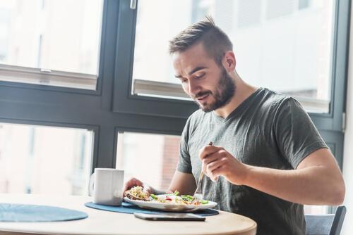 Man Eats His Food