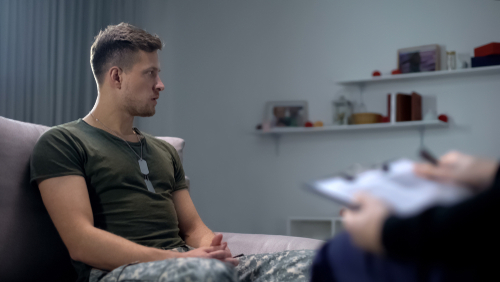 A Soldier On A Therapy Session