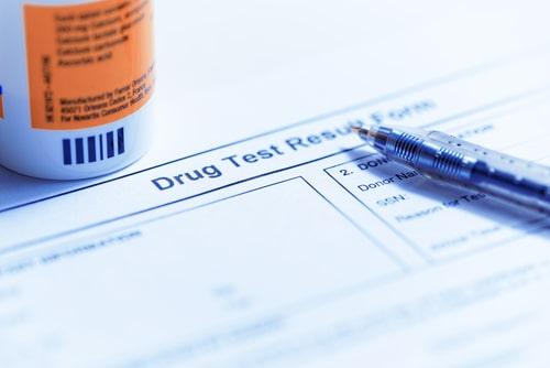 Drug test blank for drug testing.