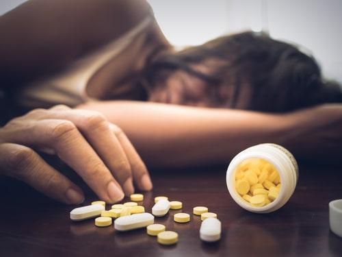 Woman overdosed on Lorazepam.