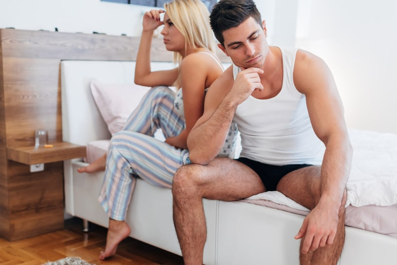 Couple having sexual problems.