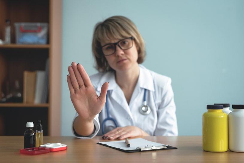 Doctor ask to stop prescribed medicines.
