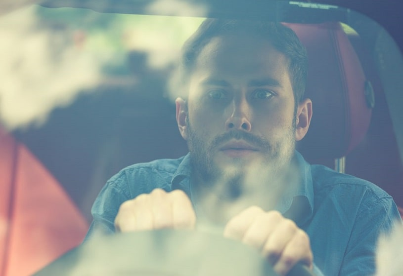 Paraniod cocaine-affected driver.