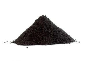 black heroin powder
