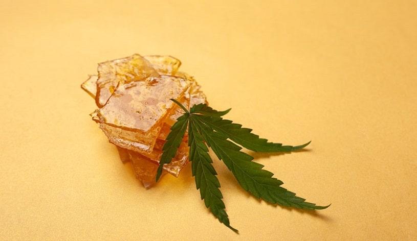 Piece of marijuana wax.