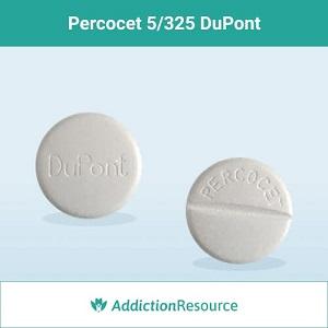 Percocet 5/325 dosage pill.