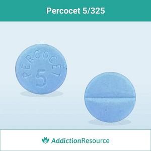 Blue percocet 5 pill.