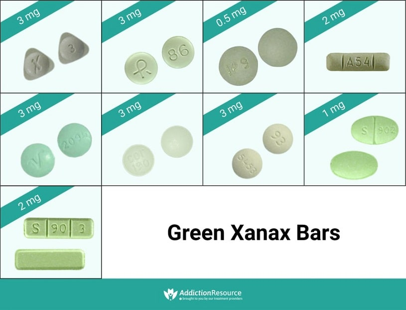 Xanax Bars What Do The Different Colors Mean