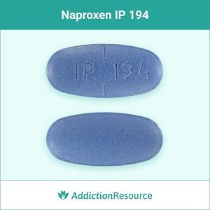 Naproxen IP 194 blue pill.