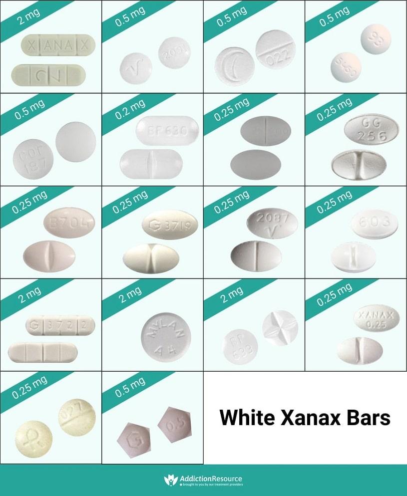 White Xanax bars.