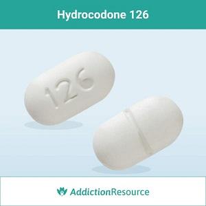 Hydrocodone 126 pill.