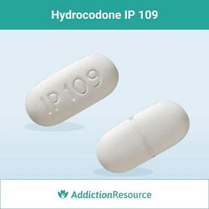 Hydrocodone IP 109 pill.