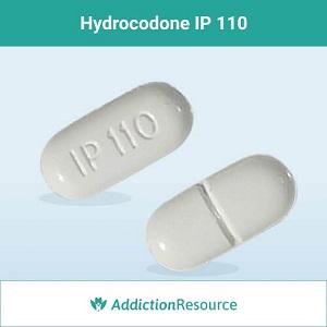 Hydrocodone IP 110 pill.