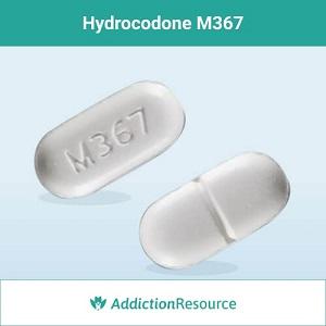 Hydrocodone M367 pill.