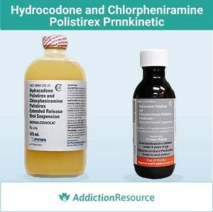 Hydrocodone and Chlorpheniramine Polistirex Prnnkinetic