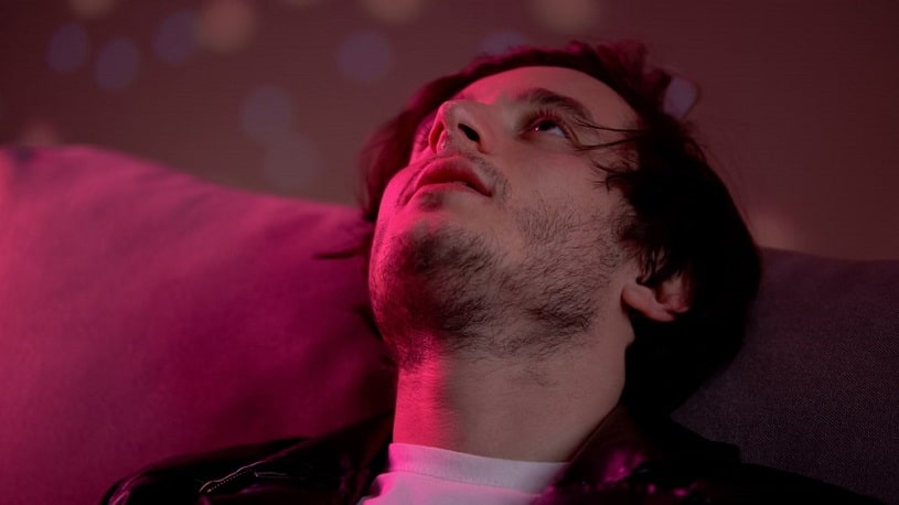Man addicted to morphine.