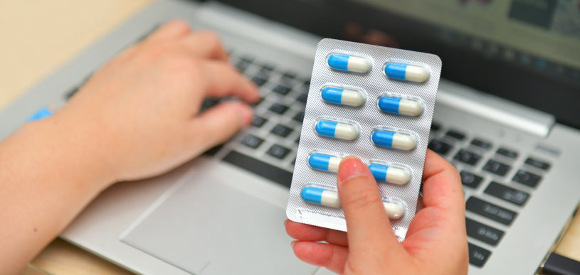 A man is searching information about Flexeril pills.